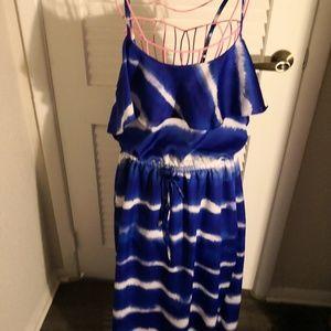 Express Blue Tie Dye Dress